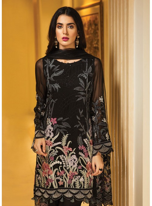 Jazmin Embroidered Chiffon...